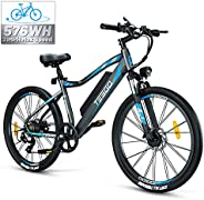 TESGO Electric Bike Adult 26inch Climber - 350W Electric Bikes for Adults 48V/12Ah Removable Battery with USB