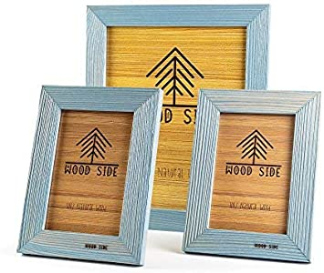 """28""""x13"""" pine wooden picture frame with mount to fit 3 A4s"""