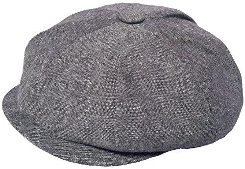 Broner Linen Blend 8/4 Cabbie Hat Gatsby (Medium, Brown)
