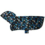 RC Pet Products Packable Dog Rain Poncho, Pitter Patter Chocolate, X-Small