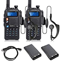 2 Set of BAOFENG UV-5X UHF+VHF Dual Band/Dual Watch Two-Way Radio + USB Program Cable