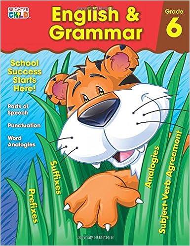 English Grammar Workbook Grade 6 Brighter Child Workbooks Carson Dellosa Publishing 9781483816470 Amazon Books