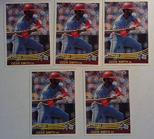 Donruss 1984 Ozzie Smith Cardinals Shortstop Baseball Cards # 59 Lot of 5