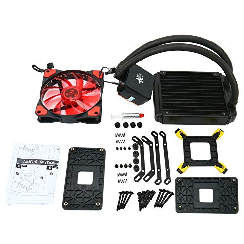 High Performance LED Liquid CPU Cooler Water Cooling System Radiator 120mm Fan for Inter AMD