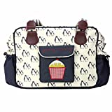 Yummy Mummy Stylish Nursery Changing Bag Colour Wise Owl - Includes Travel Changing Mat Cupcake Design Luxury Baby Bag