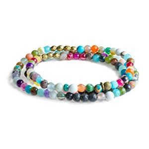 Edens Garden Corsica Wrap Essential Oil Lava Bracelet (Best for Diffusion and Aromatherapy Jewelry)