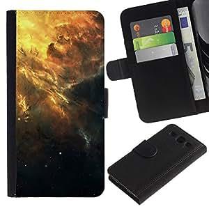 NEECELL GIFT forCITY // Billetera de cuero Caso Cubierta de protección Carcasa / Leather Wallet Case for Samsung Galaxy S3 III I9300 // Hermoso racimo de la galaxia