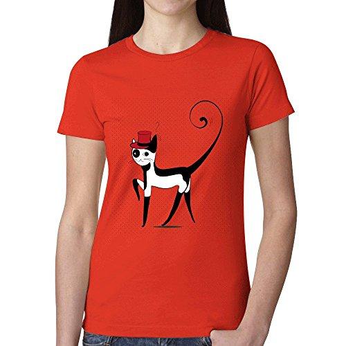 Ptshirt.com-19177-Elegant Decorative Cat Womens T-Shirt-B01G1L5XWQ-T Shirt Design