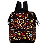 Large Capacity baby Diaper Bag Backpack for Women and Mummy Purse travel Anti-theft Rucksack Lightweight casual College School Bag for Girls 10.6x7.8x14in Cartoon-Flowers78