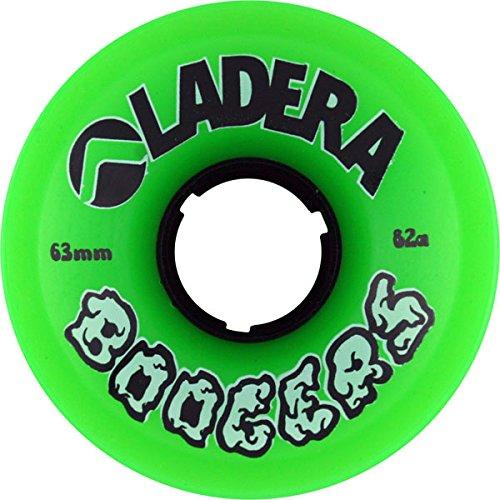 技術カナダ足枷Ladera Skateboards Boogers Green Skateboard Wheels - 63mm 82a (Set of 4) by Ladera Skateboards