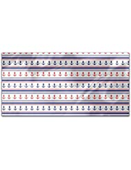 Anchors And Stripes Rectangle Tablecloth Large Dining Room Kitchen Woven Polyester Custom Print