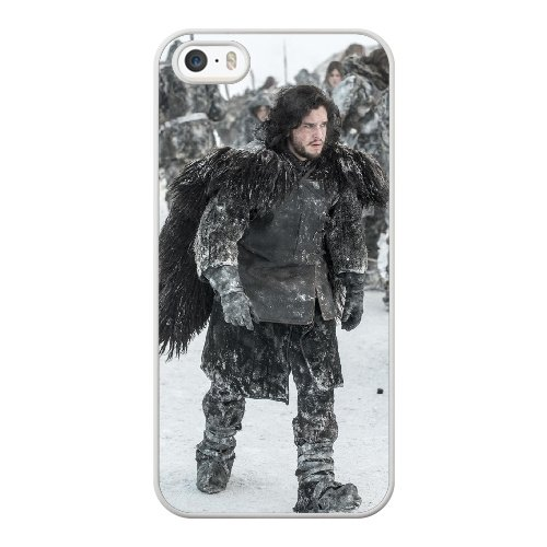 Coque,Coque iphone 5 5S SE Case Coque, Game Of Thrones Jon Snow Cover For Coque iphone 5 5S SE Cell Phone Case Cover blanc