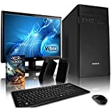 """VIBOX Basics Desktop PC Package 2 - with WarThunder Game Bundle, 19"""" Monitor, Speakers, Keyboard & Mouse (2.05GHz AMD Athlon Quad Core Processor, 1TB Hard Drive, 4GB RAM, Gamer Case, No Operating System)"""