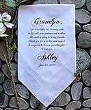 Grandfather of the Bride Handkerchief-Wedding Hankerchief-PRINT-CUSTOMIZE-Wedding gift to Grandpa-Grandfather hankie from the BrideChoCA[A9]