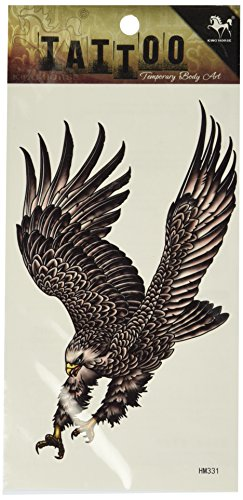 Eagle Temporary Tattoo (GGSELL King Horse Waterproof tattoo stickers personalized men tattoo stickers eagle wings)