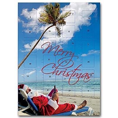 """Calendrier de l'Avent """" Père Noël à la plage """""""