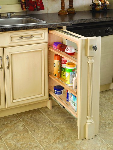 Rev-A-Shelf 6'' Base Filler Pullout, Natural by Rev-A-Shelf