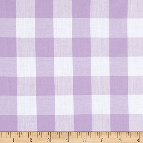 Richland Textiles Richcheck 60'' Gingham Check 1'' Fabric, Lilac, Fabric by the ()