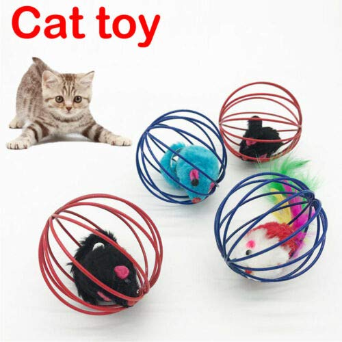 Best Quality Funny Gift Play Playing Toys False Mouse in Rat cage Ball for pet cat -