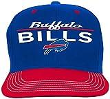 NFL Youth Boys Retro Bar Script Flatbrim Snapback Hat-Royal -1 Size, Buffalo Bills