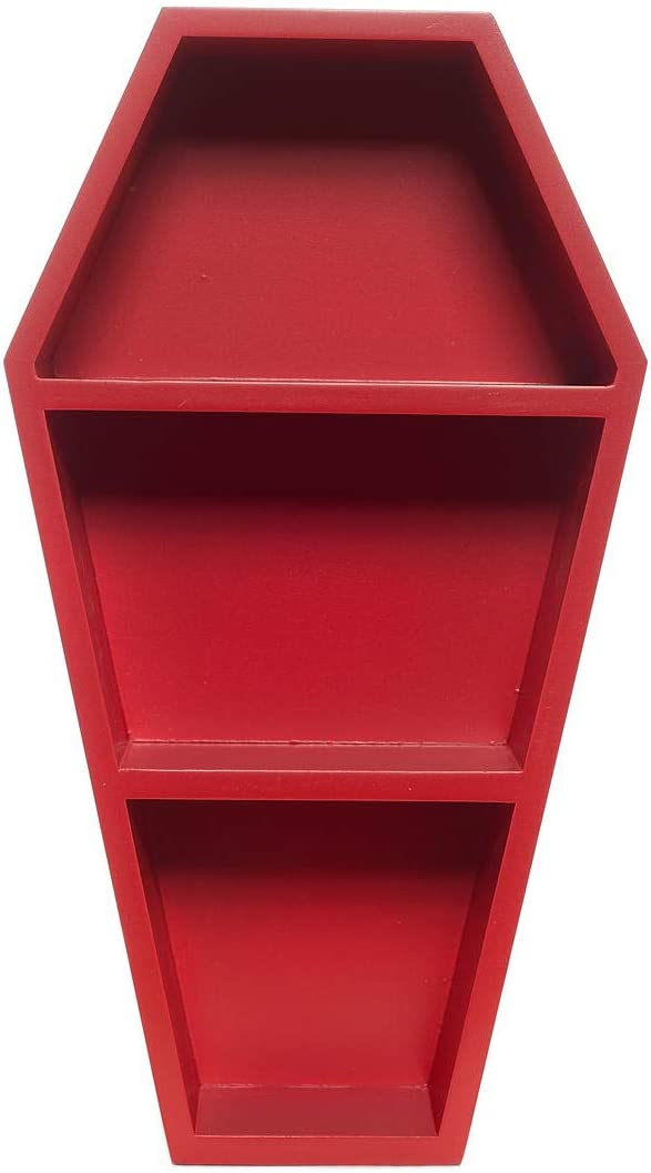 Sourpuss Coffin Shelf Red