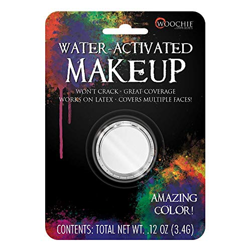 Woochie Water Activated Makeup - Professional Quality Halloween and Costume Makeup - (White, 0.1 oz) ()