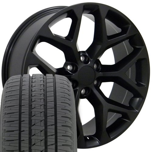 22X9 Wheel, Tire, Lugs and TPMS Fits GM - Truck Tires And Rims Packages