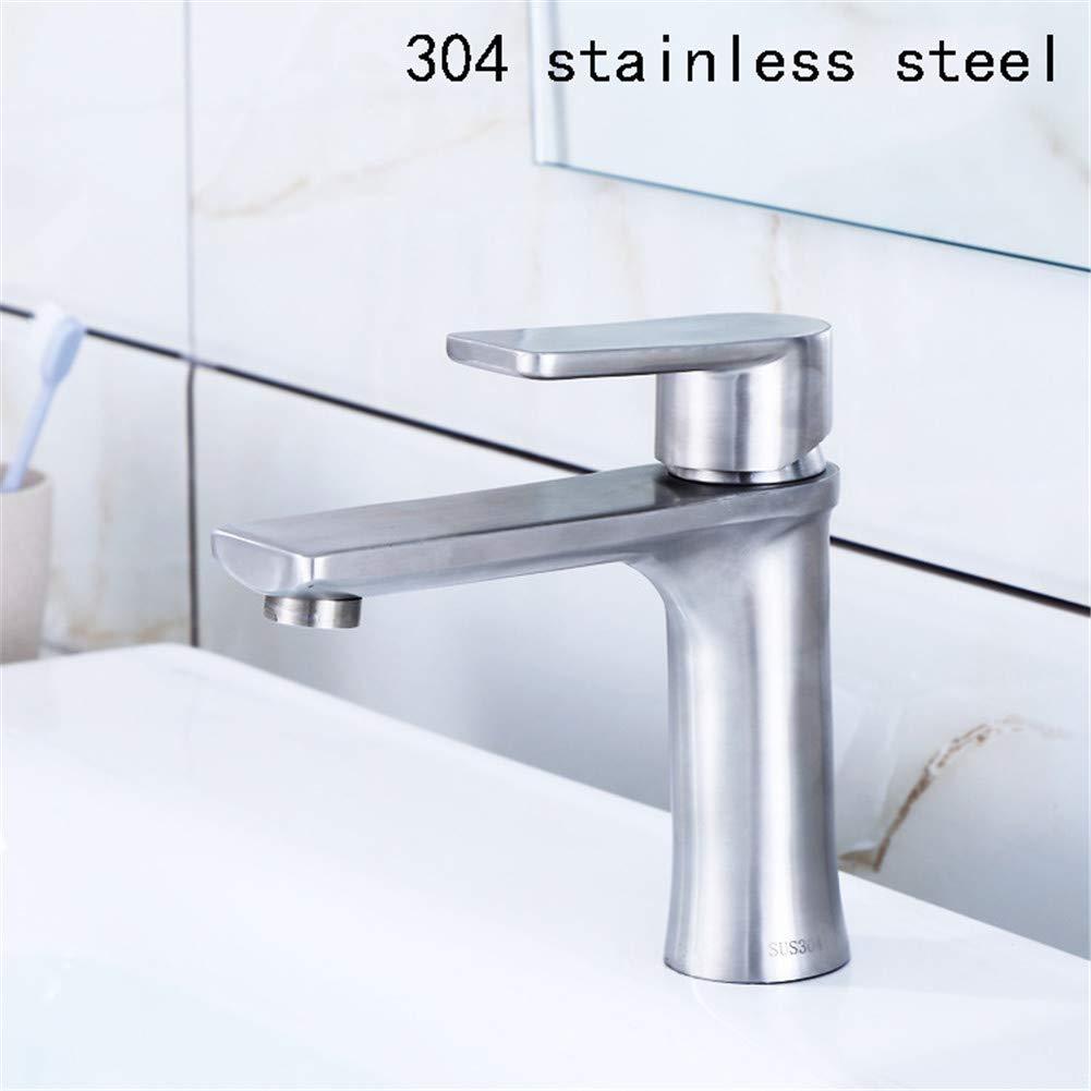 JIANGYE Modernes Bleifreies 304 Edelstahl-Einzelküchen Faucets Brushed Kitchen Sink Faucet High End heiße und kalte Mischventile Hot and Cold optional