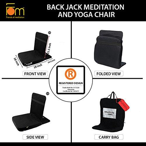 Friends Of Meditation Back Jack Meditation Chair TM (Black