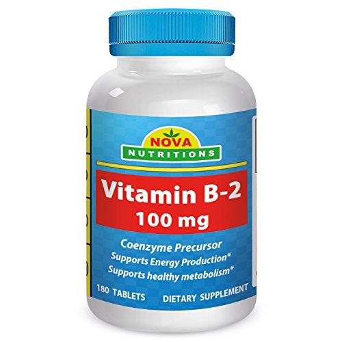 Nova Nutritions Vitamin B2 Riboflavin 100 mg 180 Tablets