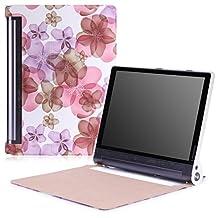 MoKo Lenovo Yoga Tab 3 Plus / Lenovo Yoga Tab 3 pro 10 Case - Ultra Lightweight Slim-shell Stand Cover Case for Lenovo Yoga Tab 3 Plus 10.1/ Lenovo YOGA Tab 3 Pro 10.1 Inch Tablet, Floral PURPLE