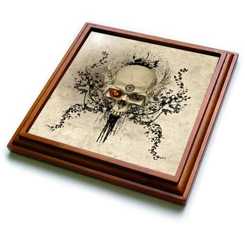 3dRose trv_252963_1 Watercolor Forest Trivet With Tile, 8 by 8'', Brown by 3dRose