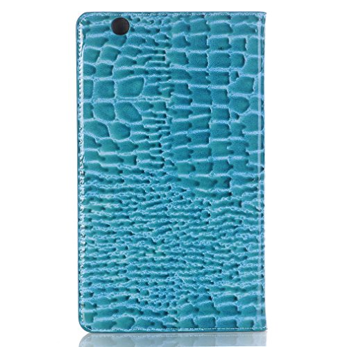 for Business LMFULM® Folding and Magnetic Cover of Bookstyle PU Mediapad Card Huawei Wake Function Crocodile Inch Leather 8 M3 Slot Case Stent Sleep 4 Leather Ultra Auto Closure Thin Grain Blue Functio 55rq6T