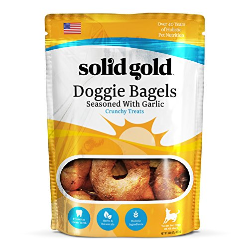 Solid Gold Garlic Doggie Bagels, Holistic Dog Treat, All Ages, All Sizes, 14.4 oz Bag