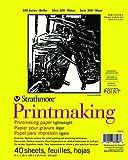 "Strathmore 300 Series Printmaking, Lightweight, 8""x10"" Glue Bound, 40 Sheets"