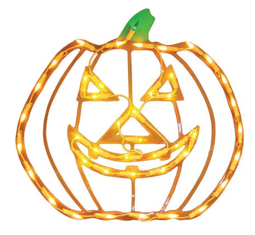 Impact Innovations Halloween Lighted Ornamental Silhouette 14x17 - Jack (Scary Halloween Light Show)