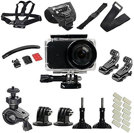 flycoo para Xiaomi mijia Mini 4K Cámara de acción, accesorios, cubierta impermeable, Kit de equipo de ciclismo, bicicleta de Deporte, base, fijación, correa, tirantes, antivaho
