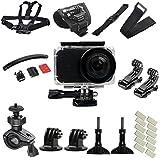 Flycoo per Xiaomi mijia Mini 4K fotocamera di azione con accessori, custodia impermeabile, kit attrezzi per ciclismo, bicicletta, sport, cinghia di fissaggio Fogstop