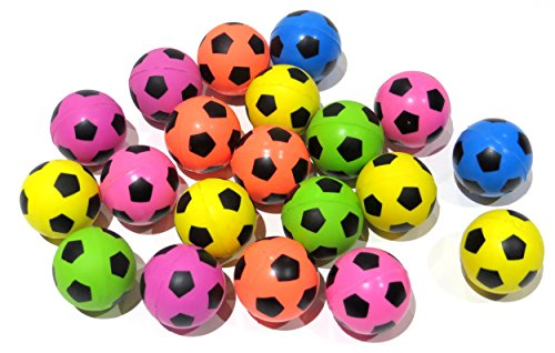 Edison Novelty Neon Soccer High Bounce Balls (20 Per Order) 25mm]()