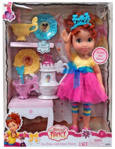 Fancy Nancy My Friend Doll in Signature Outfit, 15-Inches Tall Bonus 8pc Tea Set