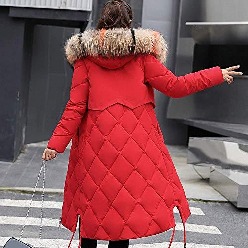Le Bas D'hiver Rouge Taille Eu Zhrui Mince Long Hiver Matelassée Outwear Femmes coloré Veste Vers Fausse Épaisse Capuche Manteau Fourrure s cn Chaud Manteaux 36 Rq1InIHYw0