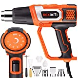 REXBETI Variable Temperature Heat Gun with 9 Attachments, Max Temperature up to 1210°F