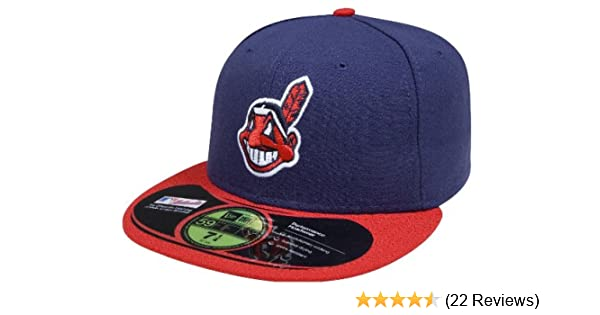 2c50dbc54ca Amazon.com   MLB Cleveland Indians Authentic On Field Game 59FIFTY ...