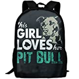 New This Girl Loves Her Pit Bull Adults Bath Towel 80x130 Inches 3D Print Backpack College School Laptop Bag Daypack Travel Shoulder Bag For Unisex