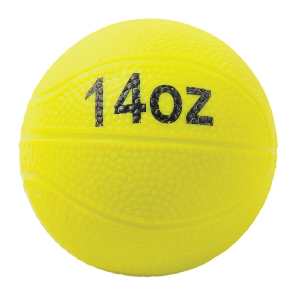Power Systems Power Throw-Ball, Baseball Size Weighted Medicine Ball, 14 Ounce, Yellow (26014)