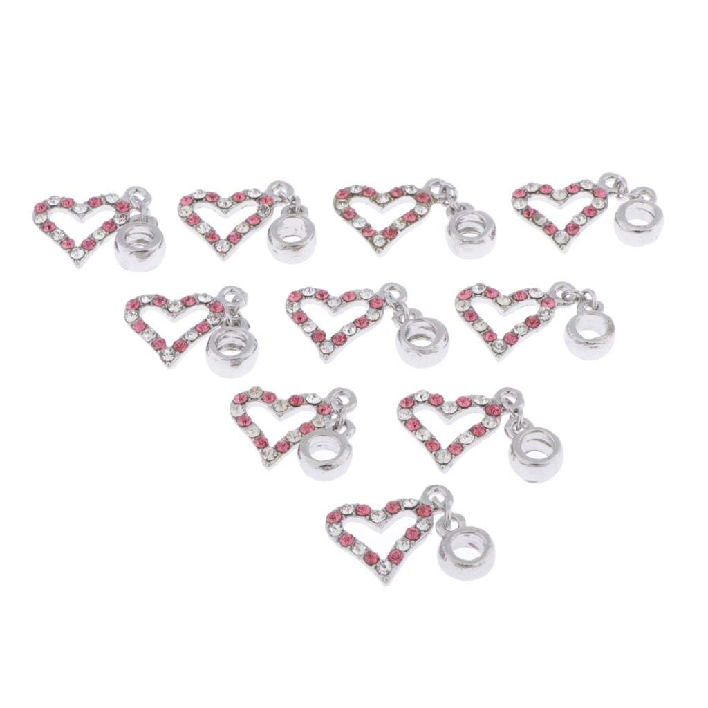 Fish 2.5x1cm Jewelry Findings Making Accessory for DIY Necklace Bracelet Prettyia 10Pcs Crystal Charms Craft Supplies Pendants Beads Charms Pendants for Crafting