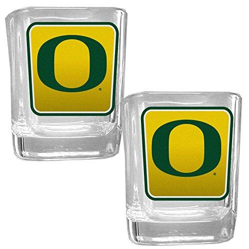 NCAA Oregon Ducks Square Glass Shot Glass Set