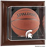 Michigan State Spartans Brown Framed Wall Mountable Basketball Display Case