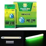 fishing light sticks - QualyQualy 50Pcs/Lot 7.5x75mm Glow Sticks For Fishing Floats Bobbers Fishing Luminous Stick Night Light Wand Tubes Green Fluorescent Lighting Stick