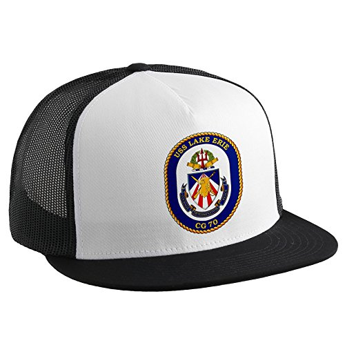 ExpressItBest Trucker Hat with U.S. Navy USS Lake Erie (CG 70), cruiser emblem by ExpressItBest